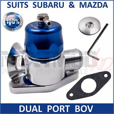 Dual Port Blow Off Valve BOV BLUE Fits Subaru Mazda WRX GT XT CX7 3 6 3in1 Turbo