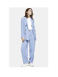 Top Shop Blue 2 Piece Co Ord Trouser Suit Size 12 Jacket Trousers