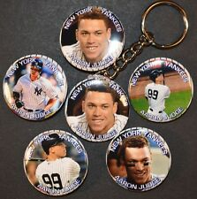 Set of Six Yankees Rookie Aaron Judge Keychain Key Chain + 5 Strong C8 Magnets