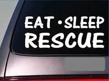 "Eat Sleep Rescue Sticker *G989* 8"" vinyl dog cat horse humane society kennel"
