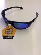 New Calcutta Polarized Los Cabos Sunglasses Black Frame/Blue Lens-300402