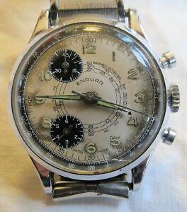Endura Chronograph Wristwatch Older Vintage