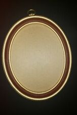 "Vintage Oval Frame 8 1/2* x 11"" Plastic CrossStitch Needlepoint Embroidery Gold"