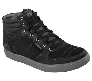 Men's SKECHERS RELAXED FIT: Elvino - Staley Casual Shoe, 64792 BLK Sizes 8-14
