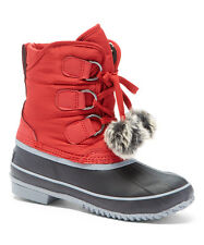 Artic Plunge Addy Red Navy Blue Waterproof Snow Boots NWOB SZ 9