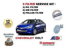 für CHEVROLET VOLT 1.4 Hybrid 2012> NEU POLLEN ÖL LUFT FILTER Service Kit