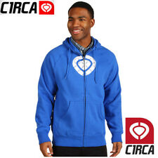 NWT Circa Icon Full Zip Fleece Hoodie NEW RT$52 £60 67€ Skate Surf Snowboard