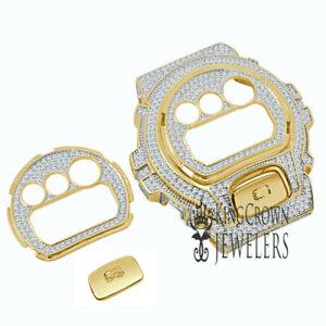 2 Tone Face Plate + Bezel + G Button 3 Piece Combo Gold G-Shock DW-6900 Watch