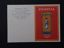 Ancienne carte parfumée calendrier 1985 Gérard Né coiffeur Angers POMPEIA PIVER