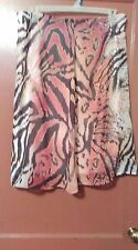 BEAUTIFUL ANIMAL PRINT CATO SIZE 16-BELOW KNEE LENGTH-ZIPPER AND HOOK BACK-NEW