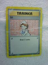 Carte pokémon trainer bill 91/102 commune set de base carte anglaise carte abîme