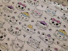 Jersey mit Lichteffekt in weiß mit Katzen Katze weiß schwarz bunt