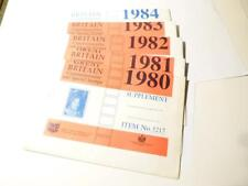 1980's Stamp Supplement Pages for Great Britain Commemorative Collectors *