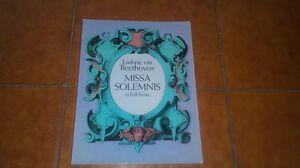 BEETHOVEN MESSA SOLENNE SPARTITO COMPLETO MISSA SOLEMNIS IN FULL SCORE DOVER