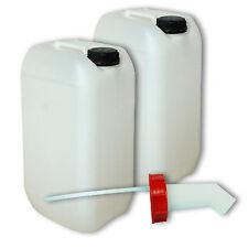 2x Wasserkanister Kunststoffbehälter 15L natur Kanisterzubehör Schnellausgießer