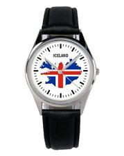 Island Iceland Souvenir Geschenk Fan Artikel Zubehör Fanartikel Uhr B-1116