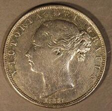 1884 Great Britain Half Crown Silver, Ex-Jewelry      ** FREE U.S. SHIPPING **