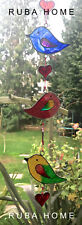 Stained Glass String of 5 Birds Sun Catcher Hanging Window Decoration Love Bird
