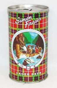 1970's Vintage Simon Fraser Lager Beer Pull Tab Beer Can Uncle Ben's Tartan MINT