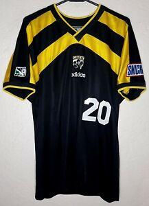 MLS Columbus Crew Adidas 1996 Brian  McBride Home Soccer Jersey