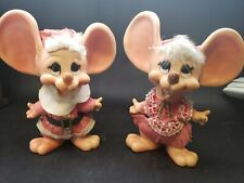 VTG Huron Products Topo Gigio Big Ear Mr~Mrs. Claus Plastic Mouse Bank Christmas