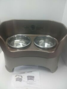 Neater Pet Brands - Neater Feeder Large Deluxe Dog and Cat Feeder Bowls-Bronze