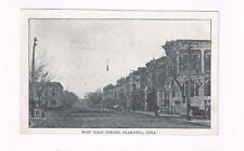 IA Clarinda Iowa antique wb post card East Main Street Clarinda Iowa