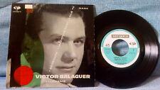 VICTOR BALAGUER - LLAMAME + 3  MEGA RARE 7'' SPAIN PS EUROVISION 1962 THE RAREST