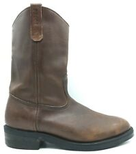 Red Wing Pecos USA Brown Leather Cowboy Work Boots Men's 11 D