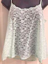 Victoria's Secret Mint Lace Spagetti Strap XS