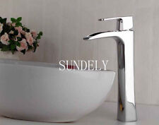 Waterfall Counter Top Basin Mixer Tap Taps Bathroom Sink Tall Chrome faucet -uk