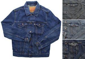 Levis Trucker Jean Jacket Men's White Tab Cotton Denim Button Down Coat