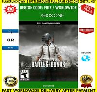 Playerunknown`s Battlegrounds PUBG Xbox One 🔑 Key Digital Code Region Free 🌏