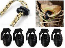 pack 5 hebilla clip cierre para cordones botas, sudaderas forma granada militar