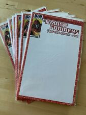 TRANSFORMERS #1 regeneration one IDW blank Comic Book Sketch Cover Variant NM