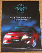 1996-97 RENAULT MEGANE FIDJI COUPE Sales Brochure - Mint Condition