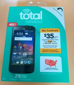 "Total Wireless 4G LTE 4.5"" Touchscreen Smart Phone No-Contract ZTE Majesty Plus"