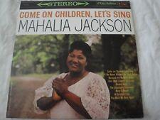 MAHALIA JACKSON COME ON CHILDREN LET'S SING VINYL LP ALBUM 1960 COLUMBIA RECORDS