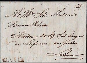 1821 Pre Stamp Entire Letter to Lisbon Postal History