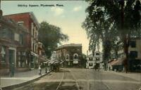 Plymouth MA Shirley Square Used White Horse Beach Cancel 1914 Postcard