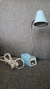 Vintage Hi-Intensity Desk Lamp DAZOR Model 3612 Blue Mid-Century Modern