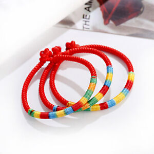 Lucky Red string Women Men Handmade Rainbow Knot Bracelets Jewelry Gifts