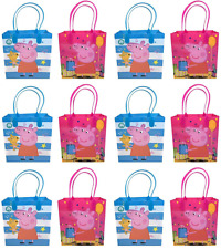 12 PCS Peppa Pig Goodie Bags Birthday Gift Loot Goody gift candy bag party favor