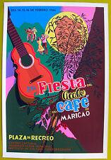 Vera Cortes 8va Fiesta Del Acabe Cafe Maricao Poster Serigraph 86 Puerto Rico