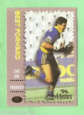 1994 PARRAMATTA EELS SERIES 3  RUGBY LEAGUE CARD #57  CHRIS KING