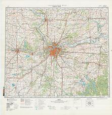 Russian Soviet Military Topographic Maps  - state KANSAS  (USA), 1:500 000