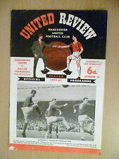 1963/64 Football Programme Manchester United v Bolton Wanderers 19th February