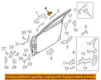 HYUNDAI OEM 11-16 Elantra Lock Hardware-Rear Door-Cover Left 836523X020