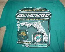 Jacksonville Jaguars vs Miami Dolphins 1998 T-shirt - Size XL - Intrastate Rival