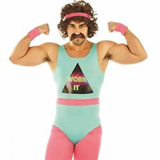 80s Fitness Instructor Mens Fancy Dress Neon Aerobics Sports Adults Costume